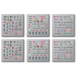 Adhesivos para uñas Words Neon - Set 6 uds.