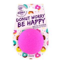 Treets Bubble bomba de baño con mensaje Be Happy