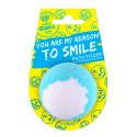 Treets Bubble Bomba de baño con mensaje Reason to Smile